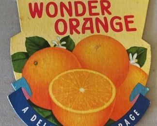 Original 1940s Wonder Orange Light Pull