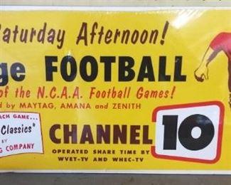 Original 1950s/60s Genesee Beer Football CB Sign