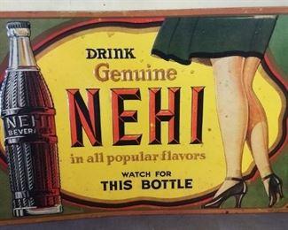 """""""Nehi"""" Tin Sign"""