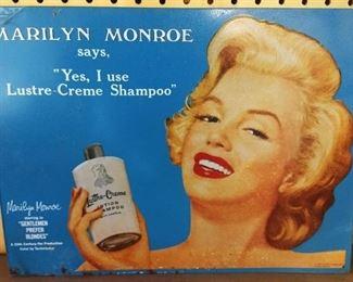 """Marilyn Monroe"" Tin Sign"