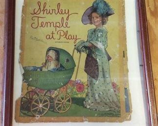 Vintage Shirley Temple Cover, Framed