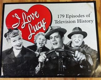 """""""I Love Lucy"""" Tin Sign"""