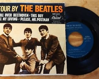 """Original Beatles Capitol Records EP """"Four by the Beatles"""""""