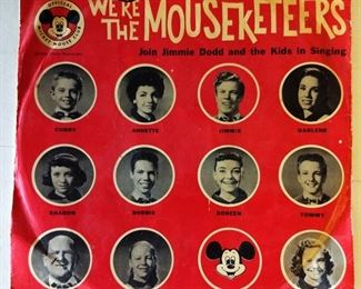 """Vintage """"We're the Mouseketeers"""" 78 Record"""