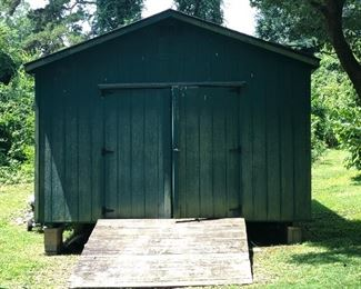 Wood Storage building with Double Doors