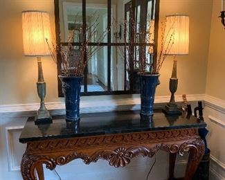Beautifully Carved Entry Table
