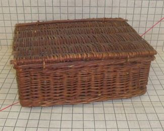 Very Old Handmade Willow Basket