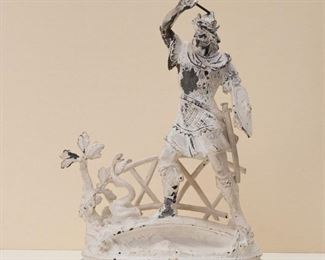 Very large St. George Victorian Spelter Warrior Statue