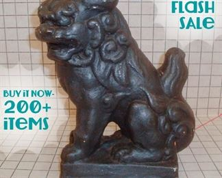 Concrete Foo Dog Lion Garden Statue