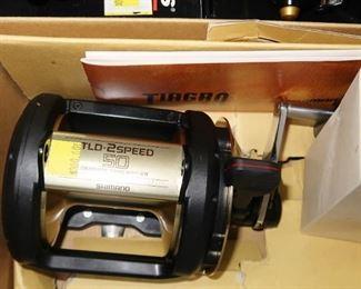 NIB Shimano TLD-50 2 speed reel