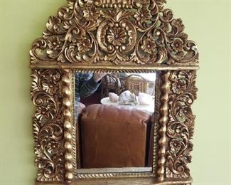 gilt mirror                         This lot selling on-line at www.fairfieldauction.com.  Preview: Sat. 10 am to 4 pm. Auction begins closing at  6 pm on Saturday.  Register and bid now!