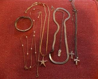 gold and silver necklaces