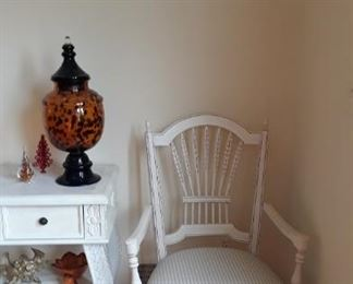 white wooden furniture pieces