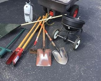 Garden Trailer and Yard Tool Lot