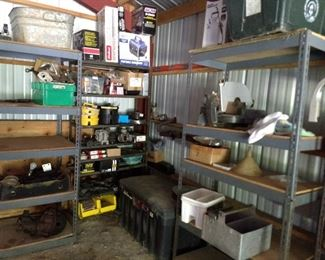 some of the back yard garage tools