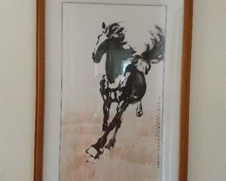 beautiful original framed art from Japan