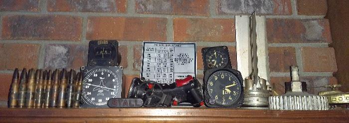 Vintage Army flight instruments