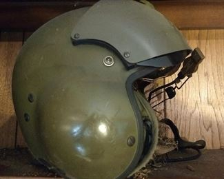 Vintage Army pilot's flight helmet