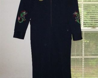 """Korean embroidered flight suit - he called this his """"Korean drinking suit"""", from when he was stationed in Korea"""