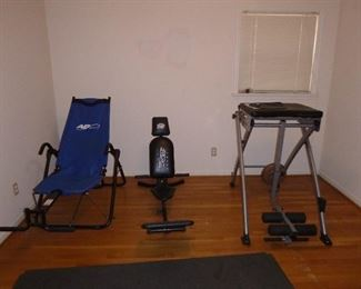 some exercise equipment