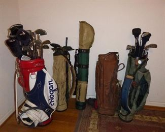 lots of golf clubs!