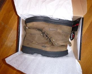 brand new, never worn, pair of Wolverine leather boots, size 9 medium