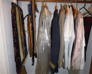 some old commercial pilot uniforms
