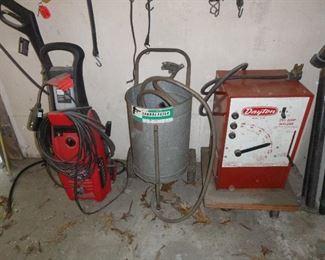 pressure washer, sandblaster & arc welder