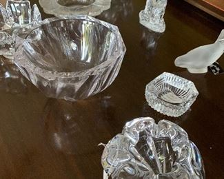 Lalique, Waterford, Orford all signed. Priced to sell fast!