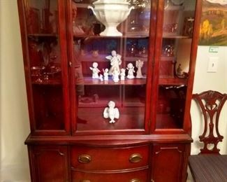 1940's mahogany china cabinet, Hampton Court, by Drexel.