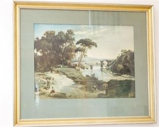 1. After COROT, Reprint of Landscape, The Claudian Acqueduct