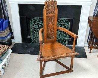 3. Antique Deacons Chair