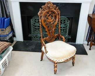 4. Antique Victorian Side Chair