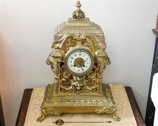 8. 19th C French Style Mantel Clock