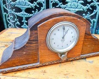 10. Vintage Oak Mantel Clock
