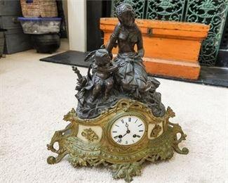 11. 19th Century Bronze Clock