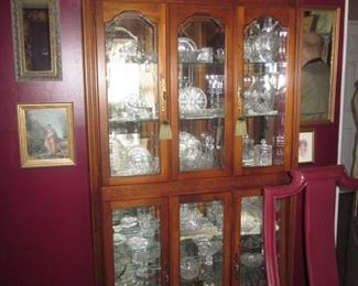 Lighted China Cabinet and everything In It!