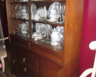 Lane Mid-Century China Cabinet And all The Contents