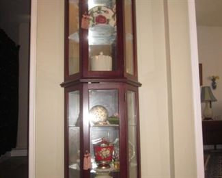 Lighted Curio and all contents