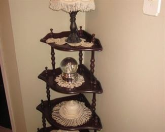 four tier corner shelving