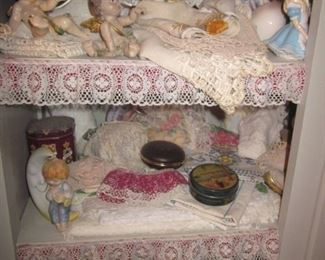 Huge Doilies Collection A lot Of Lace Linens/Bedding/Window treatments  Tons of Collectibles