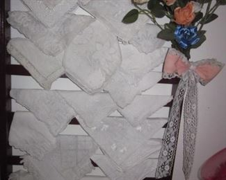 Huge Doilies Collection A lot Of Lace Hankies and more