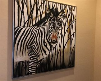 MCM Lee Reynolds Vanguard Studios Zebra Painting Original