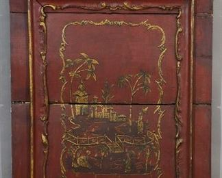 "Antique Chinese Decorated Panel Dimensions: 70"" x 4"" x 56"" Date: Ca. 1900"