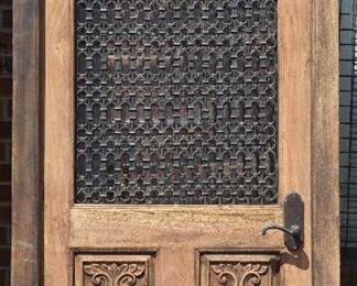 Antique Wood & Iron Entry Door