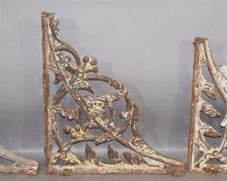 Set of Three Cast Iron Brackets