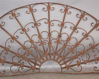 French Provincial Antique Wrought Iron Transom