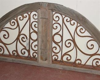 French Colonial Wood & Iron 19th Century Transom