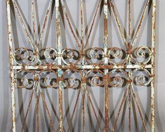 19th Century Wrought Iron Panel