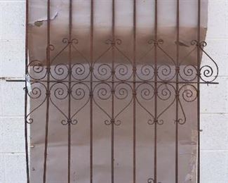 French Wrought Iron Panel